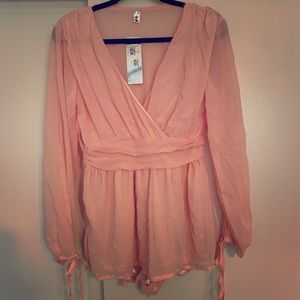 Other - Long sleeve pink romper